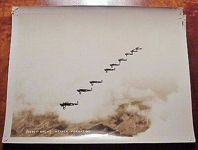 1930's Bombers in Attack Formation TH Hawaii