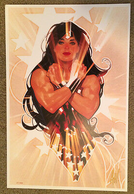 Adam Hughes LE #86/100 Made! SIGNED 2017 SDCC Art Print DC Comics WONDER WOMAN