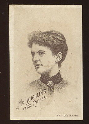Small Mclaughlin's Xxxx Coffee Trade Card, Mrs Grover Cleveland On Front
