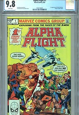 Alpha Flight #1 CGC 9.8 Byrne Cover & Art Marvel Comics 1983