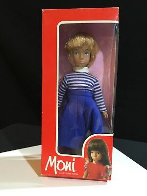 Vintage 1970s Vinyl Hong Kong Uranium Moni Mini Sasha Girl Doll Mib Box