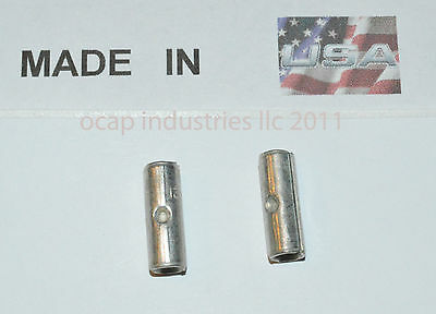 (50) 22-18 High Temperature Butt Terminal Connector 900°F MADE IN USA 18-22 AWG