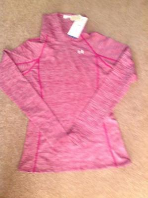 Womens UNDER ARMOUR Coldgear Cozy Neck Long Sleeve Shirt Fitted 1249973 601 Med