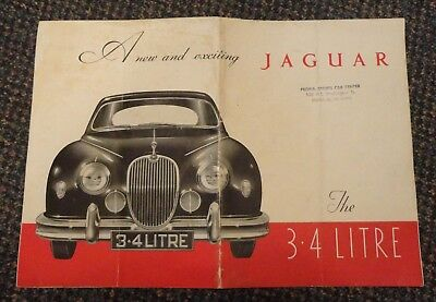 1957 Jaguar Mark 2 3.4 Litre auto brochure - Peoria Illinois sports car dealer