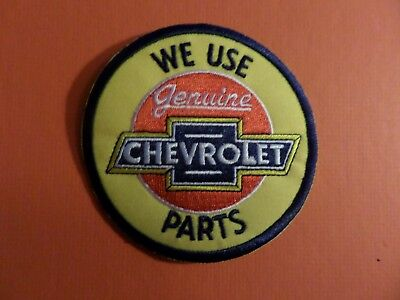 GENUINE CHEVROLET yellow & blue & red Embroidered 4 x 4 Iron On Patch
