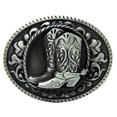 Alloy Belt Buckle Riding Boots Oval Horse Riding Western Jewelry Silver