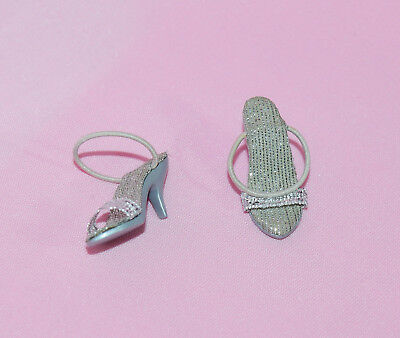 """Tonner 10"""" Tiny Kitty Drop-Dead Gorgeous Silver Shoes Fit Simone Rouge"""