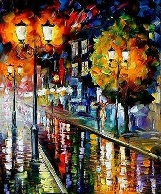 Modern Landscape Knife Abstract Oil Painting On Canvas Wall Decor Art(No Frame)