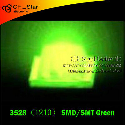 100PCS 1210 3528 SMD SMT LED Ordinary Green light PLCC-2 Ultra Bright Chip