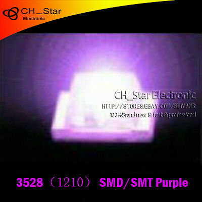 100PCS 1210 3528 SMD SMT LED Purple light PLCC-2 Ultra Bright LEDS Chip