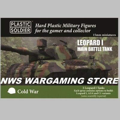15mm Leopard 1 A3 A4 C1 (5) Tank   PLASTIC SOLDIER COMPANY PSC