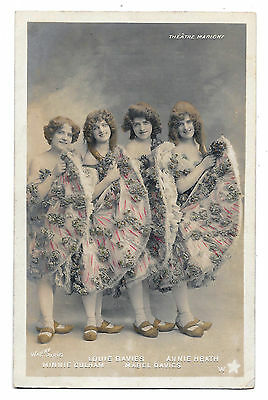 Cpa B65 Davies Heath & Culham Artiste Edwardian Theatre Marigny French Cancan