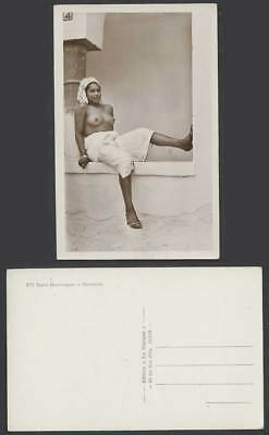 Moorish Girl Woman, Slippers, Mauresques Types Farniente Old Real Photo Postcard