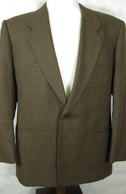 BEAUTIFUL Mani Brown Cashmere and Wool Houndstooth Sport Coat Blazer 42R Italy