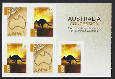 Australia 2014 Concession Stamps Sheetlet  Unmounted Mint