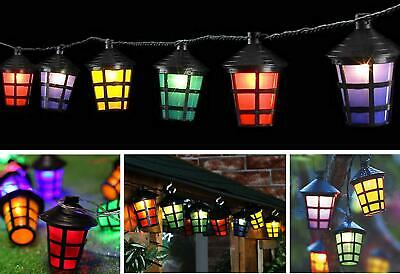 70 led coloured party lantern garden xmas lights festive outdoor 70 led multi indoor outdoor christmas decoration lantern lights tree party xmas aloadofball Images