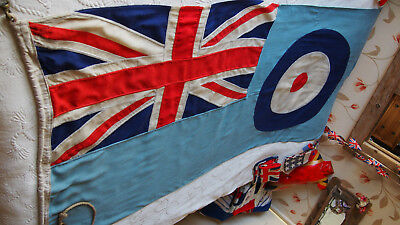 Panel Stitched WW2 era British RAF Ensign Vintage Union Jack Flag