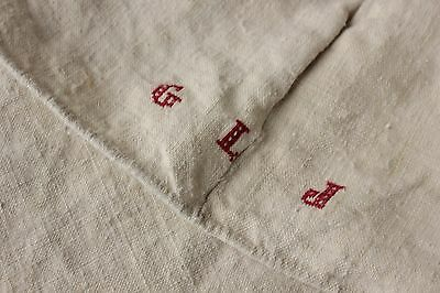 Linen sheet antique French 79X92 HEAVY 5 POUNDS slipcover upholstery Fabric