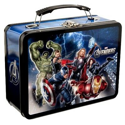 """Marvel Comic Avengers Collectible Tin / Tote / Lunchbox  9"""" x 7.5"""" x 3.5"""" New"""