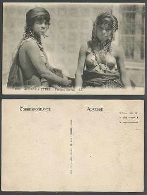 Africa, Native Arab Women Girls Ladies Femmes Arabes Scenes & Types Old Postcard