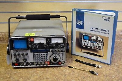 IFR FM/AM-1200S Communications Service Monitor & Manual No Reserve