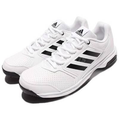 sports shoes d3a25 048d3 Nib Men Adidas By9084 Adizero Attack Tennis White black Shoes Select Size   80
