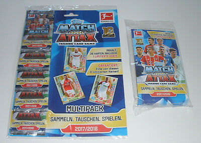 Topps Match Attax 2017/2018 - Multipack mit 5 Boostern + Blister Neu & OVP