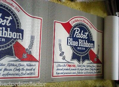 "SALE Pabst Blue Ribbon Sign1989 NOS Milwaukee Wis 24"" x 20' Advertising 50% Ship"