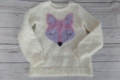 Cat & Jack Girls Fuzzy Fox Sweater 3T 4T NEW You Choose