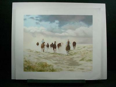 "NobleSpirit {3970} Signed/Numbered Gwendolyn Branstetter Litho ""Storm Brewing"""