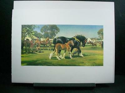 "NobleSpirit {3970} Signed/Numbered Frank Wootten Litho ""Horse Show"""