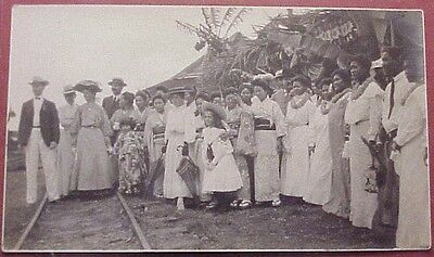 1905 Entertainers Secretary of War Taft Diplomatic Party by Train Tracks Oahu TH