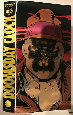 (2017) Doomsday Clock #1 Lenticular Variant Cover SIGNED GEOFF JOHNS! Watchmen!