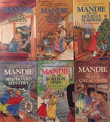 """Lot Of 6 """"mandie"""" Books By Lois Gladys Leppard"""
