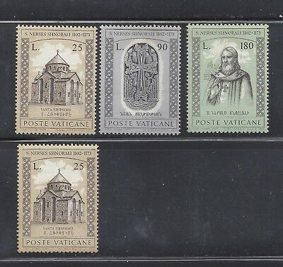 1973 Vatican Set of 3 + 1 8th centenary of the death of San Narsete Shnorali MNH