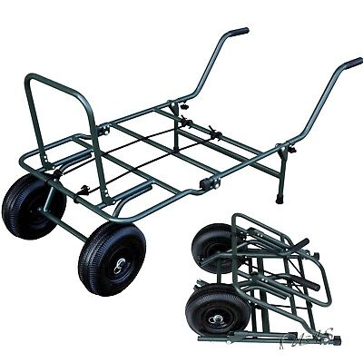 Delta Fishing Trolley Mini Packmass Carp Barrow Angelkarre Transportwagen Sha