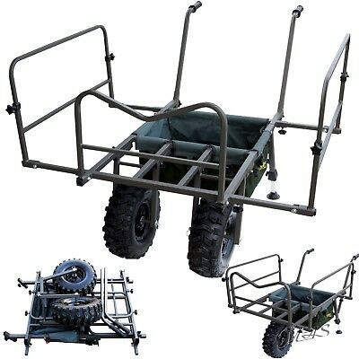 Delta Fishing Trolley Goliath Double Wheel Carp Barrow Xl Angelkarre Tasche Sha