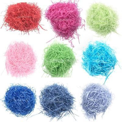 20g/bag Shredded Crinkle Paper RaffiaDIY Dry Straw Gift Box Filling Tissue Paper