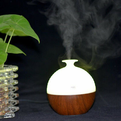 130ML Ultrasonic Essential Oil Diffuser Aroma USB Humidifier Purifier -Brown