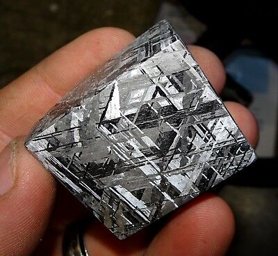 Beautiful 262 Gm Etched Gibeon Meteorite Cube From Namibia