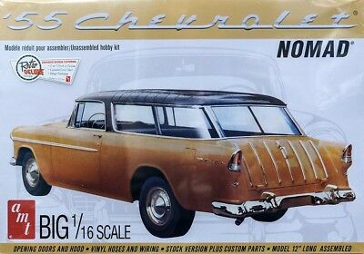 1955 Chevrolet Nomad Wagon 1:16 AMT Model Kit Bausatz Chevy inkl. Decals AMT1005