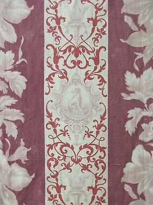 Antique French 19th century Greyhound fabric material