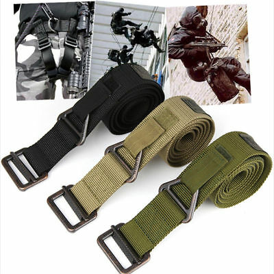Men Rescue Tactical Rappelling Downhill Durable Nylon Military Belt Training