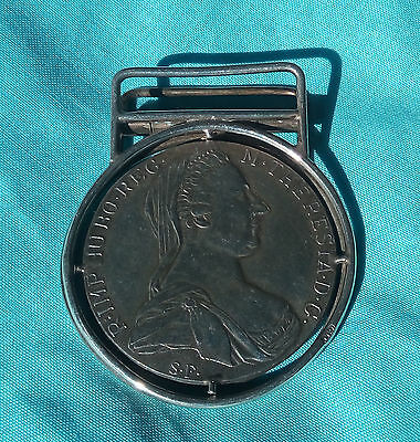 Silver Money Clip From 1780 Silver Coin Austria Theresia Hallmarked