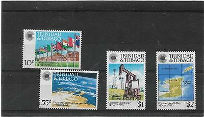 Trinidad And Tobago 1983 Commonwealth Day Set Sg.622-625 Mint Never Hinged--Mnh