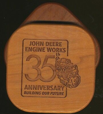 JOHN DEERE EMPLOYEE AWARD ISSUE ENGINE WRKS FACTORY 35th ANNIVERSARY COASTER SET