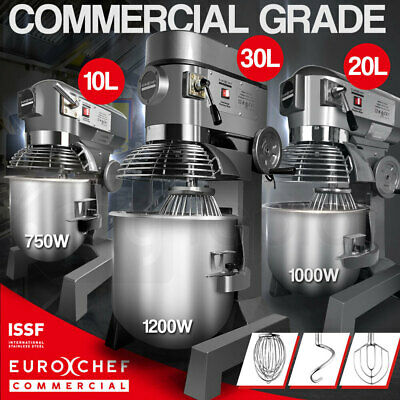 EUROCHEF Planetary Mixer 30L 20L 10L Commercial Stand Vertical Dough Food Bench
