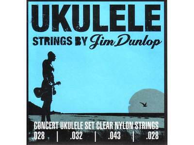 JIM DUNLOP PRO UKULELE CONCERT STRINGS Warm Exceptional Clarity USA Made