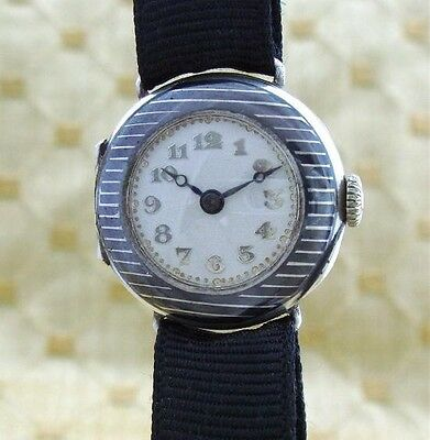 Ladies' Rare Antique Vintage Deco Era Gruen Niello Enameled Watch – SERVICED