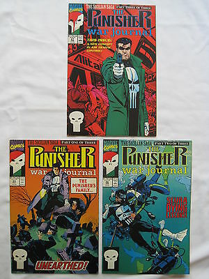 The PUNISHER : The SICILIAN SAGA :COMPLETE 3 ISSUE STORY in WAR JOURNAL 25,26,27